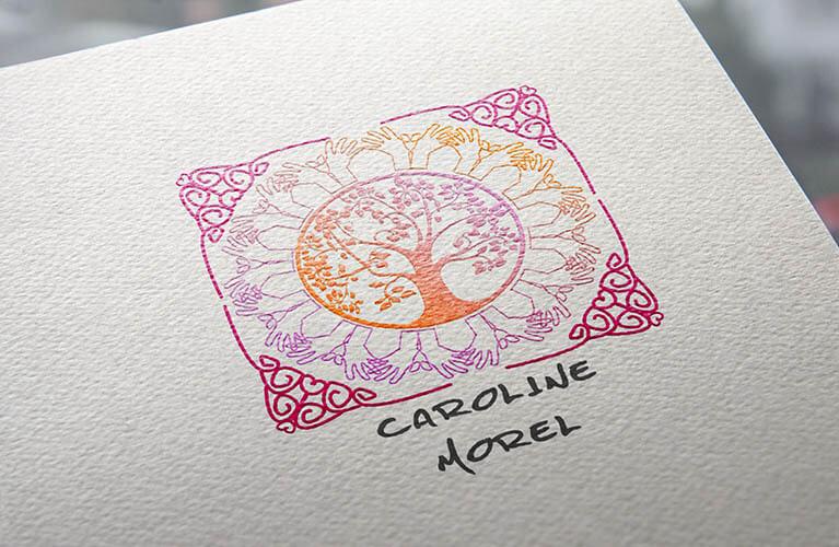 desarrollo de identidad corporativa para CarolineMorel