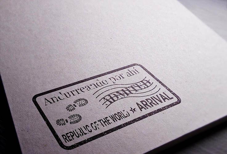 diseño de logo paraandurreando por ahi