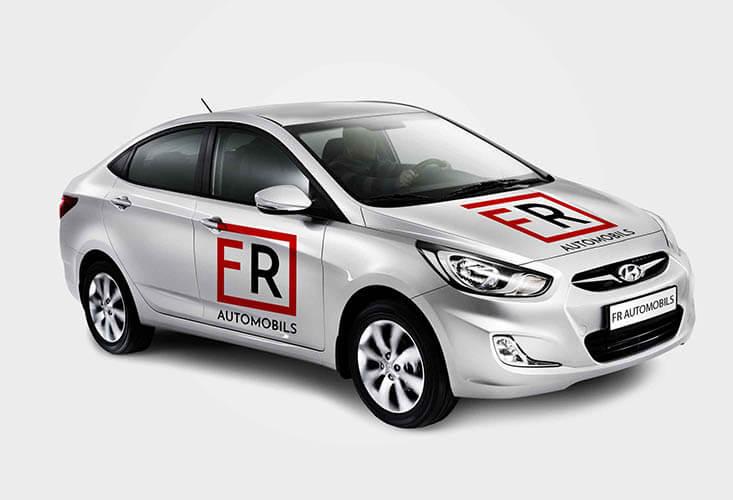 desarrollo de logotipo para venta de coches fede roca 2