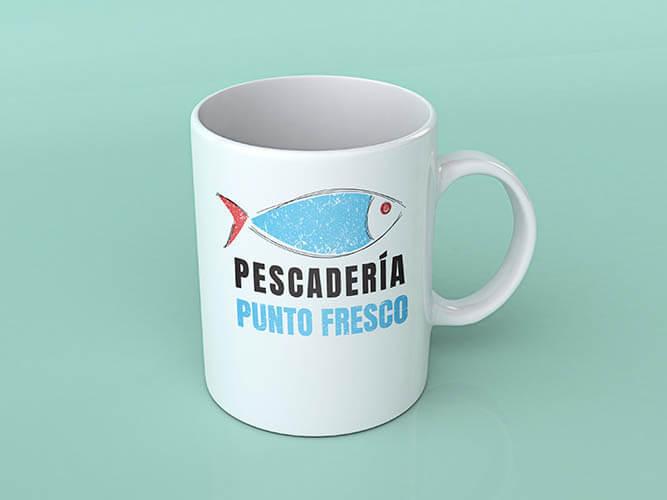 diseño de logotipo para pescaderia punto fresco