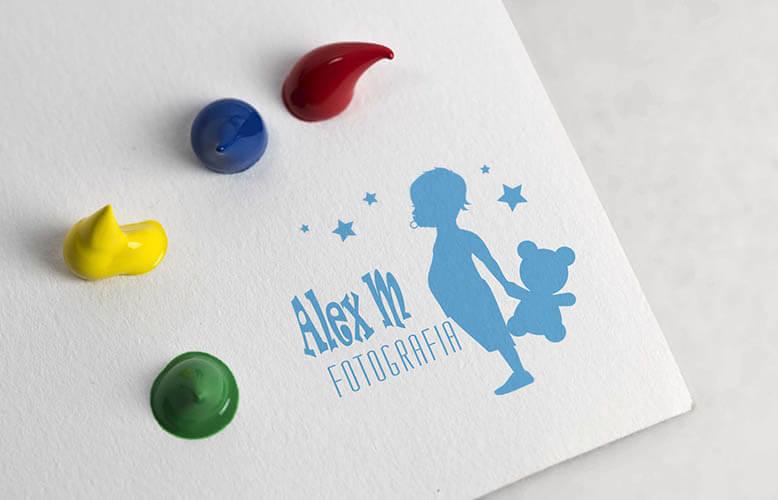 desarrollo de logotipo para fotografo alex m
