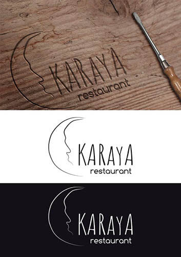 logo de marca para karaya restaurant